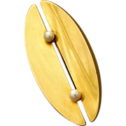 Georg Jensen 18Kt Gold with Pearls Brooch by Nanna Ditzel No. 1350A