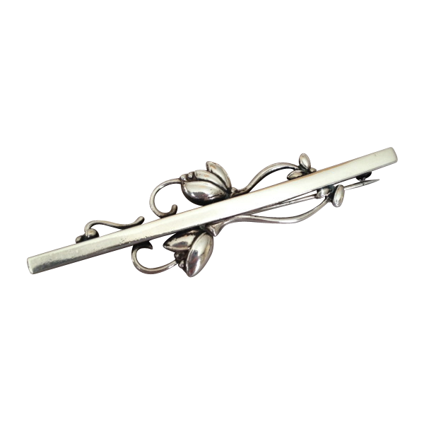 georg jensen sterling silver tulip bar pin no 278 from gallery925 on ruby lane. Black Bedroom Furniture Sets. Home Design Ideas