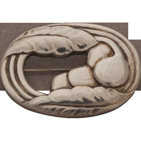 Georg Jensen Sterling Silver Brooch No. 18