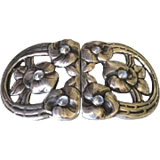 Evald Nielsen 830 Silver Rare Belt Buckle with Moonstones