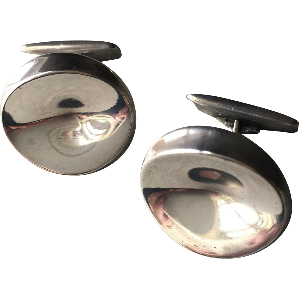 Georg Jensen Sterling Silver Cufflinks No. 74A by Nanna Ditzel