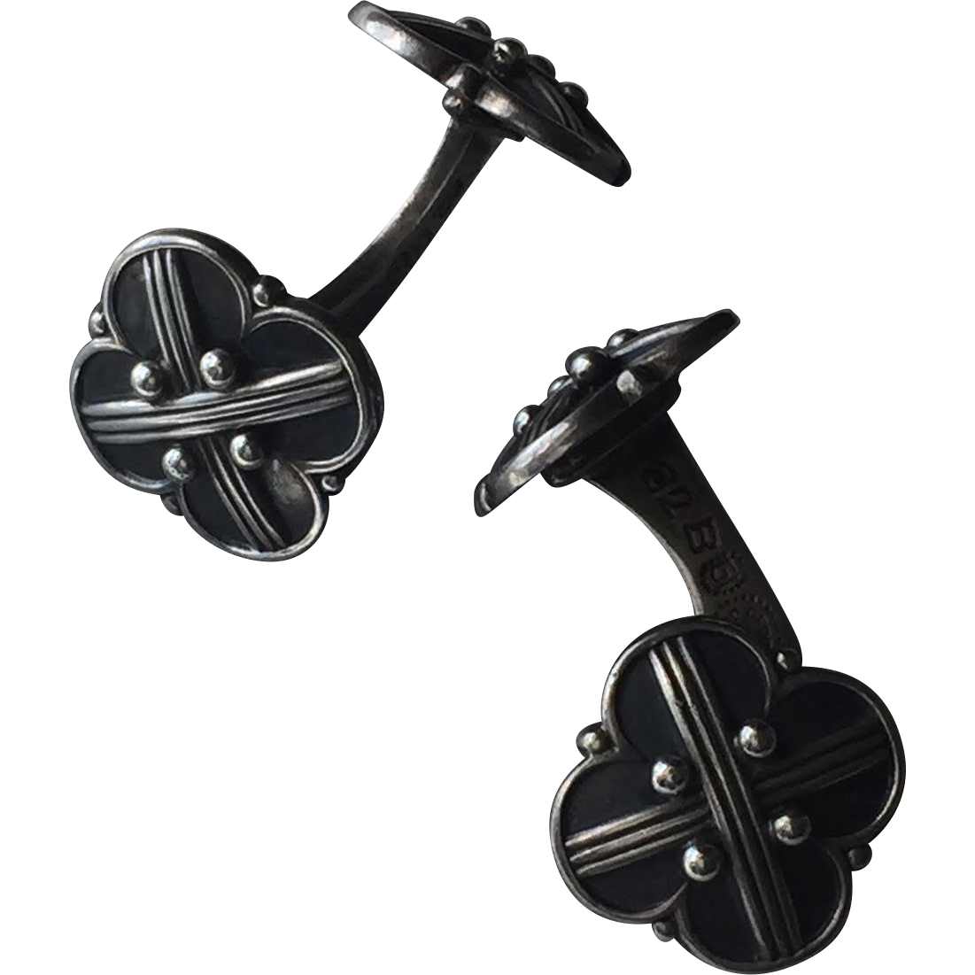 Georg Jensen Art Deco Sterling Silver Cufflinks No. 62B