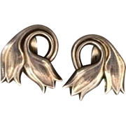 Georg Jensen Tulip Earrings Large Size No. 100B