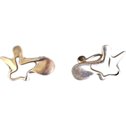 "Georg Jensen Sterling Silver ""Splash"" Earrings by Henning Koppel, No. 118"