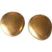 John Iversen 18KT Gold Vermeil & Sterling Silver Pebble Earrings