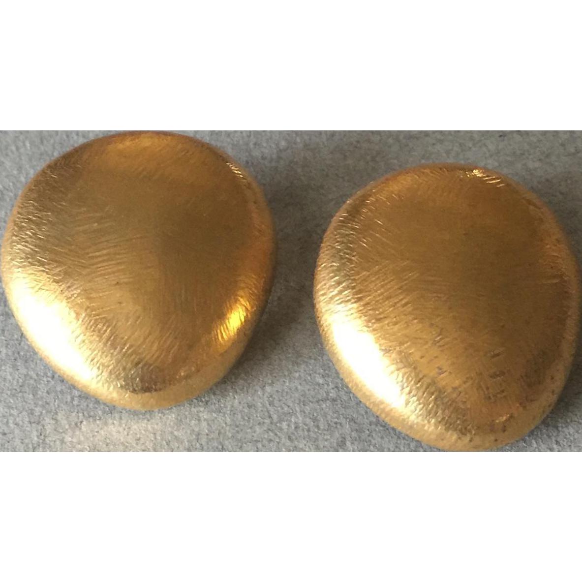 John Iversen 18KT Gold Vermeil & Sterling Silver Pebble Earrings