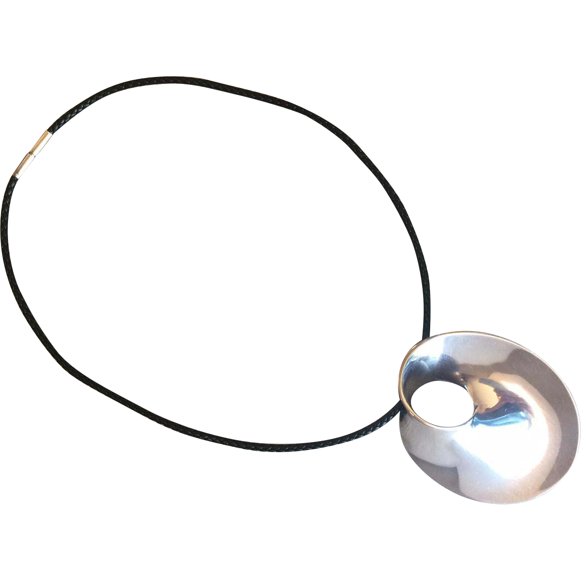 "Georg Jensen Sterling Silver ""Mobius"" Large Pendant-Brooch No. 374 by Vivianna Torun"