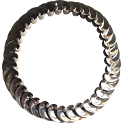 "Antonio Pineda 970 Silver ""Wave"" Necklace"