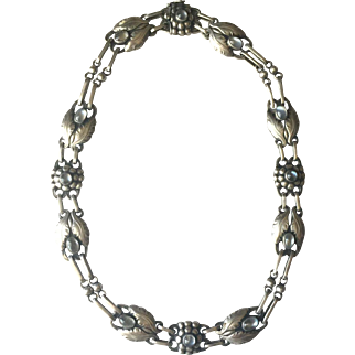 Georg Jensen 830 Silver Necklace No. 1 with Moonstones
