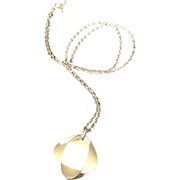 Georg Jensen Modernist Pendant in sterling silver by Henning Koppel
