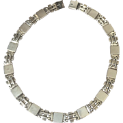 Georg Jensen Sterling Silver Art Deco Necklace No. 99 by Oscar Gundlach-Pedersen