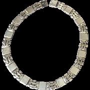 Georg Jensen Sterling Silver Art Deco Necklace No. 99 by Oscar Gundlach-Pedersen