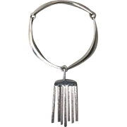 Hans Hans Sterling Silver Necklace With Pendant By Bent Gabrielsen
