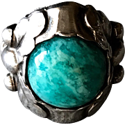 Georg Jensen Sterling Silver Ring with Amazonite, no. 11A.