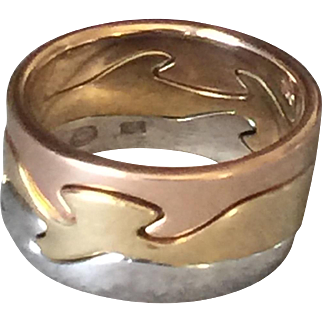 Georg Jensen 18KT Gold Fusion Ring by Nina Koppel