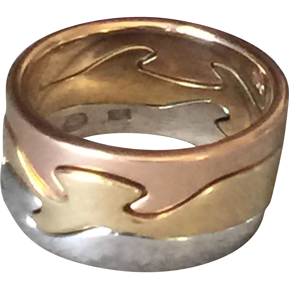Georg Jensen 18KT Gold Fusion Ring by Nina Koppel