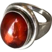 Georg Jensen Amber Ring by Harald Nielsen, No. 46A