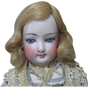 Antique mohair wig for small doll