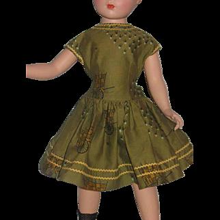 Exceptional vintage dress for large vintage hard plastic dolls