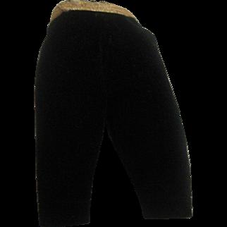 Madame Alexander tagged Cissette black velvet slacks. TLC