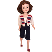 Adorable Patriotic pedal pusher and sweater for Vintage Cissy