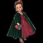 Pretty Madame Alexander Vintage Cissy dressed for the Holidays