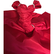 Gorgeous Madame Alexander vintage Cissy red side drape gown