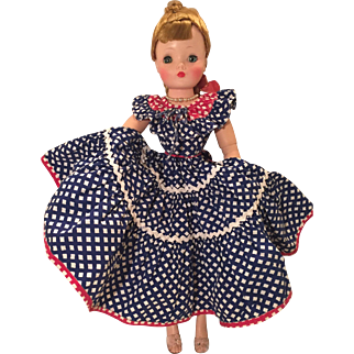 Vintage square dance or Americana dress Cissy