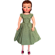 Vintage green dress for Cissy or other fashion dolls