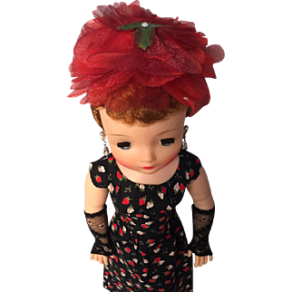 Red and Black mix and match vintage outfits for Cissy