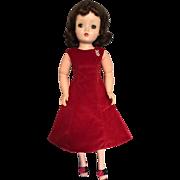 Madame Alexander vintage Cissy tagged red velvet sheath