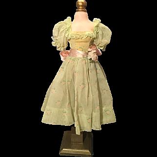 Madame Alexander vintage Cissy green nylon dress TLC