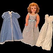 Sleepwear for Madame Alexander Cissy doll. Tagged gown-plus