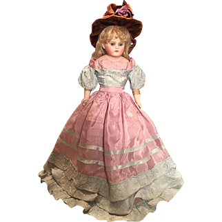 Vintage taffeta dress for china or shoulderplate doll