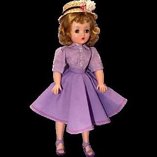 Madame Alexander vintage Cissy dressed in Lavender