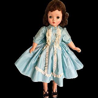 Madame Alexander tagged Cissy blue dress