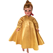 Madame Alexander tagged vintage Cissy gold outfit