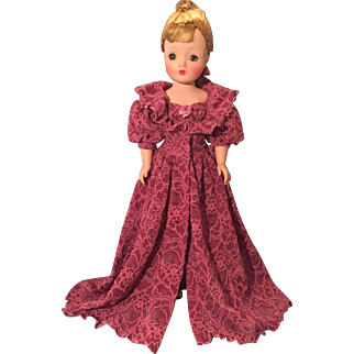 Fancy corset and robe for Cissy size doll