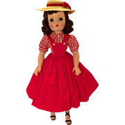 Tagged Cissy red outfit with hat
