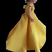 Madame Alexander Cissy Gold gown