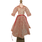 Cissy red polka dot organdy dress