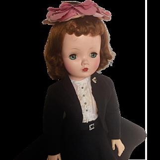 Vintage redhead Cissy in black wool