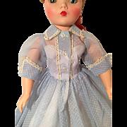 Blue dotted Swiss Cissy dress