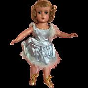 "Madame Alexander 14"" Babs Skating doll in blue"