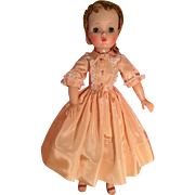 Gorgeous peach taffeta dress for Cissy
