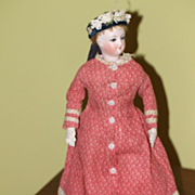 4x 2 1/4in Antique Red French Fashion , China Doll Trunk Beautiful Lock