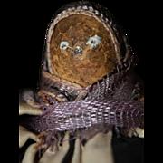 Antique True Nipple Doll  So Rare! Cloth Doll  Folk Art