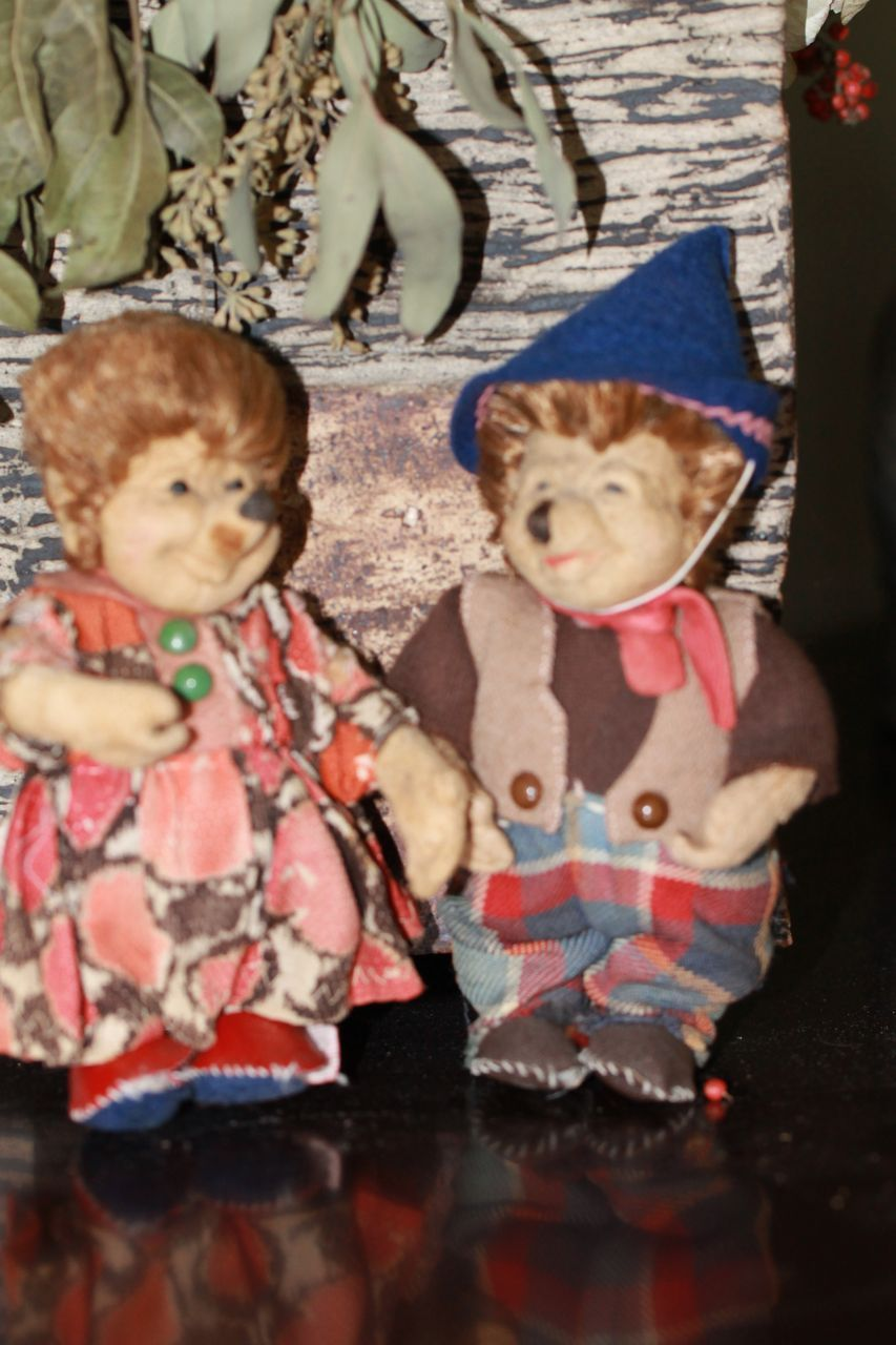 Antqiue Cloth Doll Hedgehogs