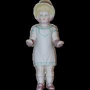 Bonneted Frozen Charlotte w/ Original Dress Parian, China Dolls