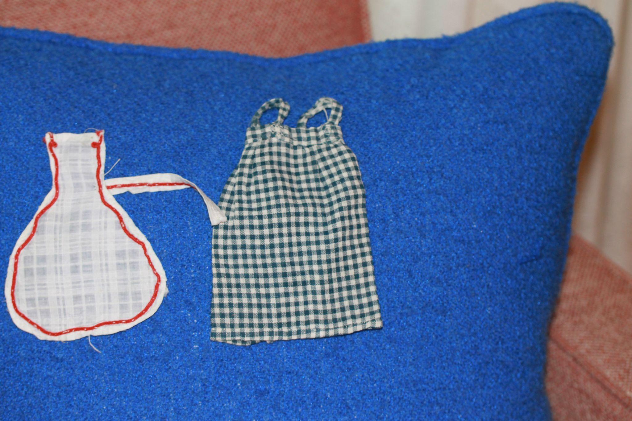 2 Antique Aprons for Smaller China, Bisque Doll